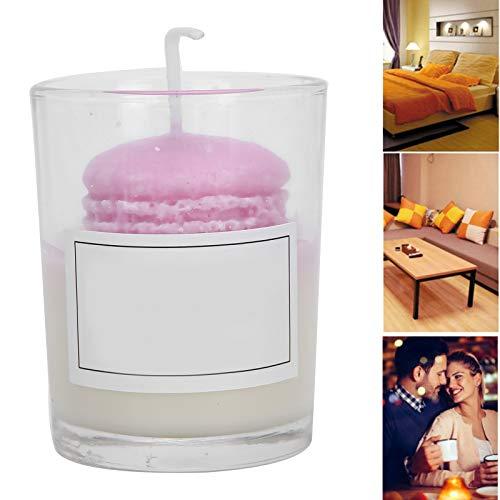 Vela de tarro, velas aromáticas calmantes, fragancia de larga duración, vela perfumada para aliviar el estrés, decoración del hogar para el baño, vela romántica con vaso de vidrio, baño(Púrpura)