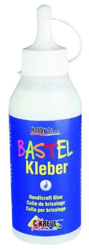 Kreul 49361 - Bastelkleber transparent, 250 ml, auf Wasserbasis, lösungsmittelfrei, für viele verschiedene Materialien