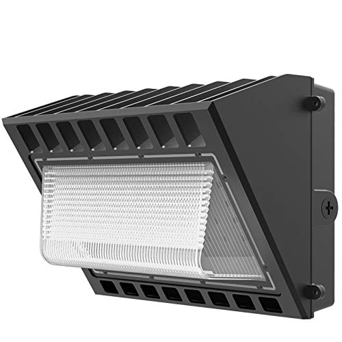 100W LED Wall Pack Dusk to Dawn with Photocell, 5000K 12000LM, Wall Mount Outdoor Security Lighting Fixture, Commercial and Industrial Outdoor Lights for Parking Lots, Warehouses, Factories
