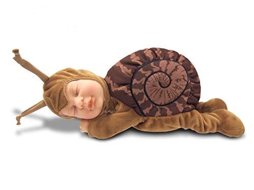 Anne Geddes 579168 Braune Schnecke Puppe / Brown Snail 9 inch Baby Doll - Bean Filled Soft Body