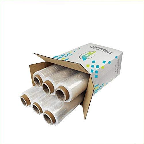 Virsus Pellicola estensibile 6 rotoli film estensibile trasparente per imballare 2,4 kg