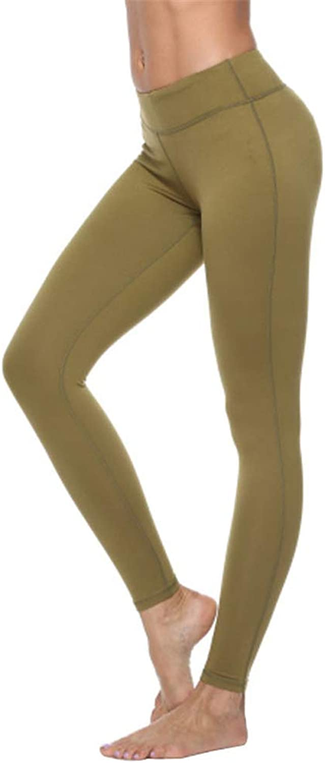 Yoga Pants Womens Sport Workout Running Training Gym Leggings Tummy Control Power Stretch Tights Trousers,e,S