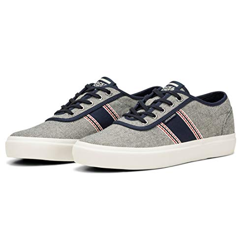Jack & Jones Jfwaustin Denim Stripe Denim Light Blue, Zapatillas Sneaker para Hombre (Denim Light Blue, Numeric_40)