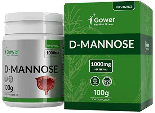GH D Manosa 100gr Polvo | D-Manosa Puro Polvo Vegano | Sin Aditivos | Envasado en R.U. en Instalaciones con Licencia ISO | Sin OGM, Sin Lácteos y Sin Gluten