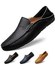 [サニー ホリデイ] メンズ ドライビングシューズ 軽量 スリッポンシューズ 通気性の 2種履き方 クラシック 職場用 モカシン 靴 夏のホローカジュアルシューズ