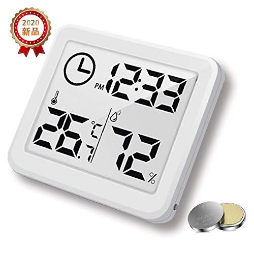 RAWAHOME デジタル時計 タイマー 温湿度計 お風呂時計 温度計 湿度計 熱中症 粘着可 壁掛け 卓上置き 浴室 バス 洗面所 キッチン 中庭 ルーム シャワー用