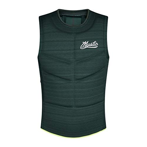 Mystic Mens Majestic Side Zip Impact Vest 200106 - Dark Leaf Size - M