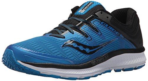 Saucony Men's Guide ISO Running Shoe, Blue/Black, 8 Medium US