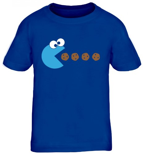 Shirtstreet24, Blue Monster, Kids Kinder Fun T-Shirt Funshirt, Größe: 110/116,royal blau