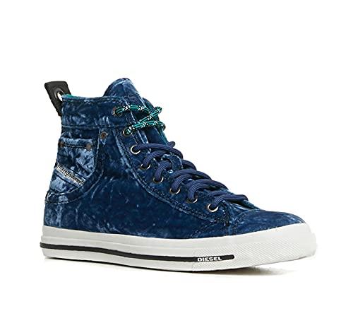 Diesel Zapatillas de Mujer Exposure IV High Top (Azul, Numeric_38)