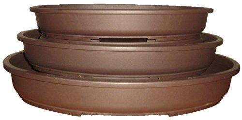 Set di 3 vasi per bonsai, ovali, in plastica, 30/35/40 cm