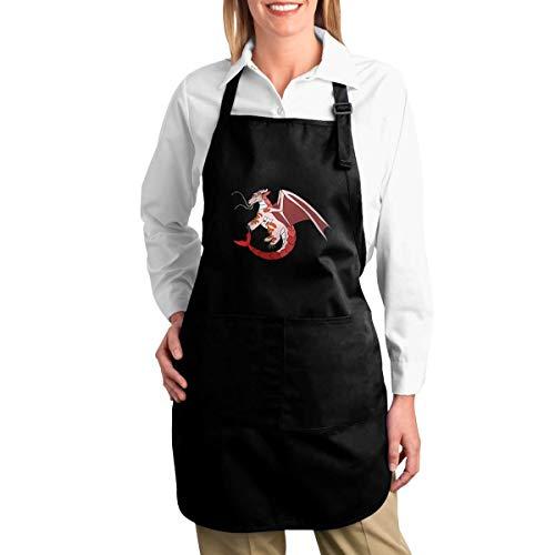 NR California Roll Wings of Fire Fanon Wiki Lustige Schürzen für Männer und Frauen mit 2 Taschen - Küchenchef Kochen Grillen BBQ Backen Schürze