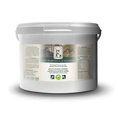Mühldorfer Natur-Mineral & vitamines, 10 kg, préparation multivititale, soutient l'organisme du Cheval, qualité Bio, complément Alimentaire pour Chevaux