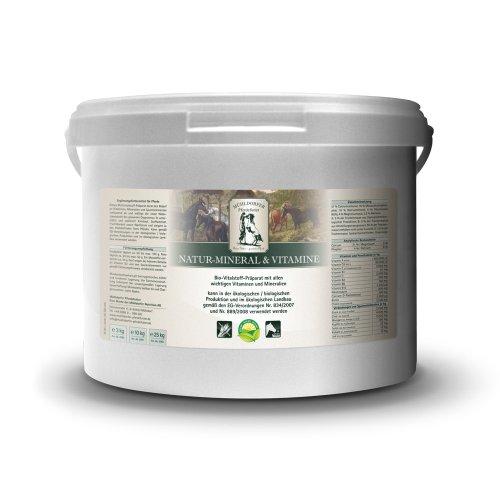 Mühldorfer Natur-Mineral & Vitamine, 10 kg, Multivitalstoff-Präparat, unterstützt den Pferdeorganismus, Bio-Qualität, Ergänzungsfutter für Pferde