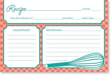 2021 Double online Sided Recipe Cards outlet online sale 4x6 50 counts - Card Stock outlet online sale