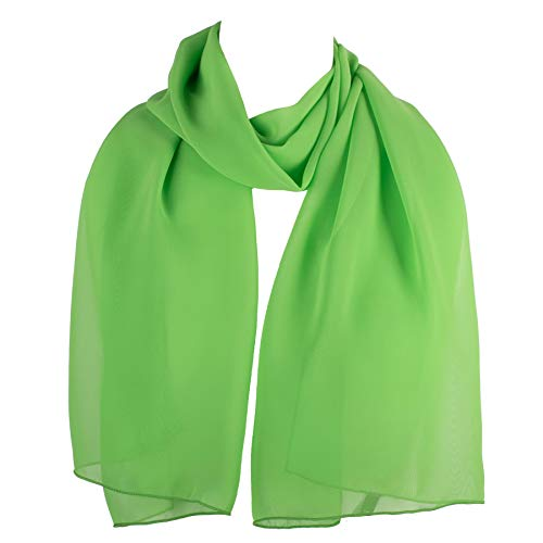 HatToSocks Chiffon Scarf Sheer Wrap for Women (Lime green)