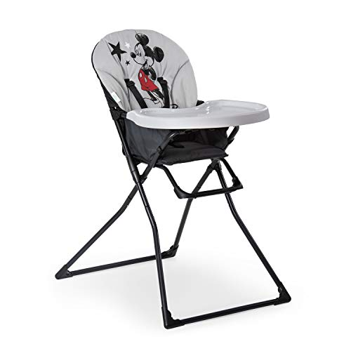 Hauck Disney Mac Baby Kinderhochstuhl, Essbrett mit Bechervertiefung, zusammenklappbar, ab 6 Monaten, Schwarz