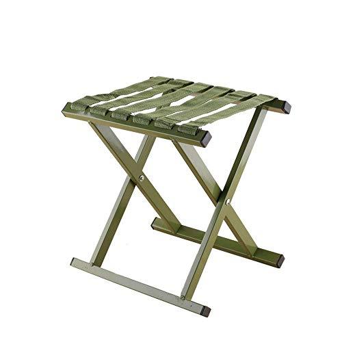 CENPEN Verde plegable al aire libre bancos de pesca aleación D 'aluminio silla taburete metal Mazar rollo carga 250kg sin esqueleto