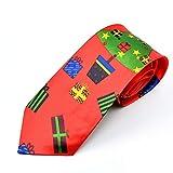 Xmiral Christmas Krawatte Santa Baum Rentier Print Floral Weihnachten Festival Tie(O)
