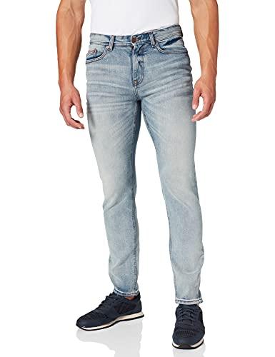Springfield Jeans Slim Lavado Claro Rotos Pantalones, Azul Medio, 32