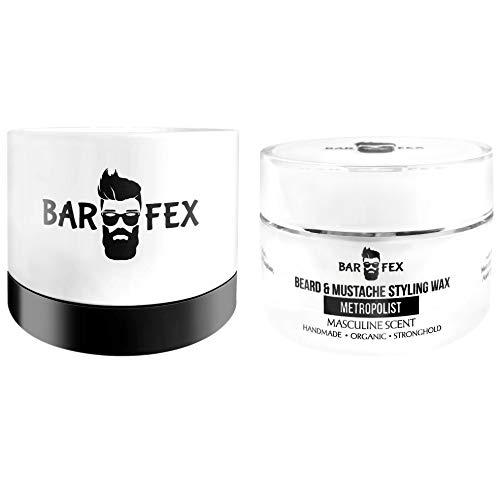 BarFex Cera para barba hombre ● Fijacion fuerte ● Made in Germany ● Beard Wax
