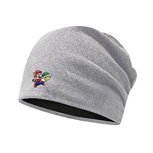 Sombrero de Super Mario Super Mario Mario Game Peripheral Baotou Hat Hombre y mujer Estudiante Sombrero cálido Gorro de ciclismo a prueba de viento