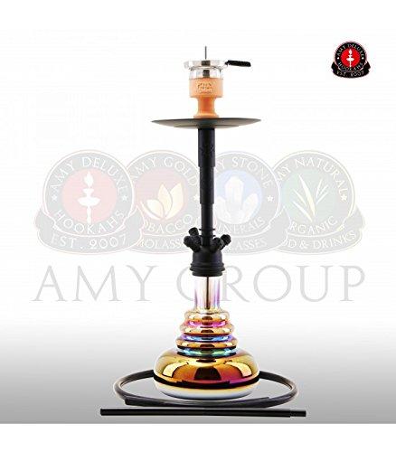 AMY Shisha Big Cloud Rainbow - black - RS black powder | Wasserpfeife Hookah Shiny mit Kammersystem