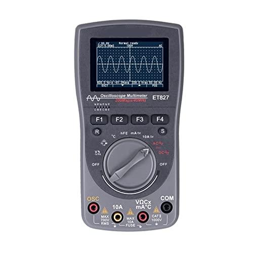 Multímetro del osciloscopio dos en uno Tooltop ET827 200ms / s Tasa de muestreo 4 0mhz Banda ancha