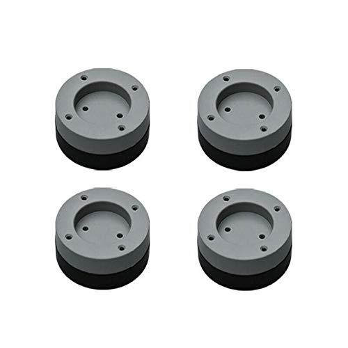 tellaLuna 4 almohadillas antivibración para pies lavadora, alfombrilla de goma antivibración, secador universal fijo, antideslizante