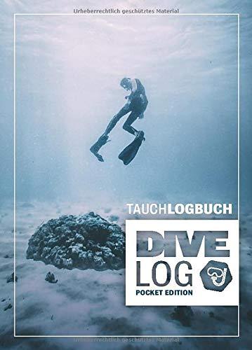 Tauchlogbuch I Dive Log Pocket Edition: Kleines Logbuch als Geschenk für Taucher & Scuba Diver zum dokumentieren von 80 Tauchgängen I Inhaltsverzeichnis I Format: DIN A6 I 84 Seiten