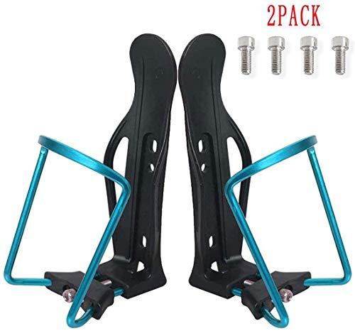 Alittle Soporte de botella de bicicleta, 2PCS Mountain Road Bike Drink Jaulas de botella ajustables de agua, Accesorios para piezas de ciclo