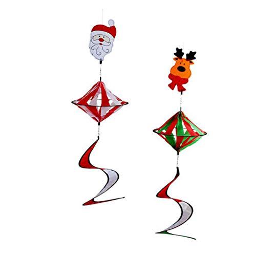 DOITOOL Weihnachts-Windspiel zum Aufhängen, Spirale, bunt, Windspiel, Regenbogendiamanten, Fensterdecke, Baumdecke, Weihnachtsdekoration
