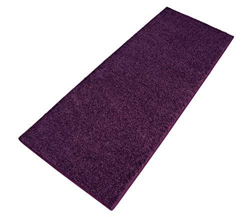 Carpet Studio Ohio Tappeto Corridoio 67x180cm, Passatoia Corridoio per Cucina, Camera da Letto & Corridoio, Facile da Pulire, Superficie Morbida, Pelo Corto - Melanzana/Viola