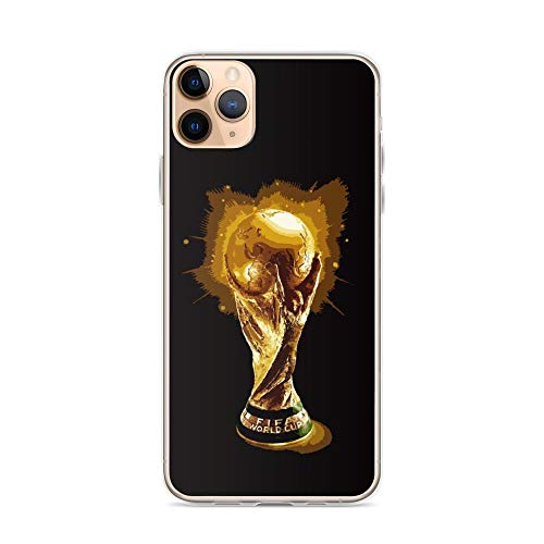 KriteShop Compatible with iPhone 11 Pro Max Case Soccer Sport Team Game FIFA-World Golden Trophy Cup Football Gift Fan Arts Pure Clear Phone Cases Cover