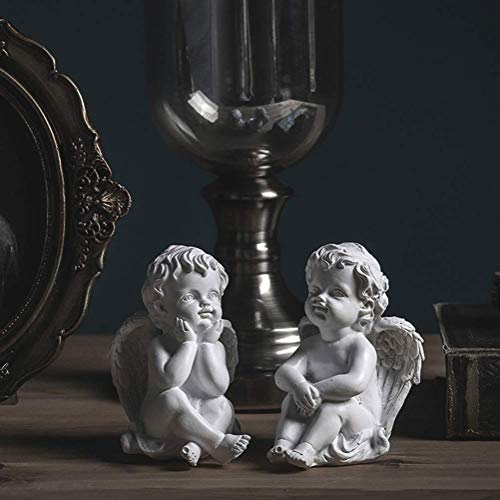 Praying Cherub Statue,angel Sculpture Cupid Figurine Indoor Outdoor Garden Decoration Wings Angel Arts Crafts Memorial Art Ornaments-e 7x11cm(3x4inch)