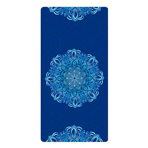 Multifunctional Mat Yoga Mat - 183X80cm Flower Printing Suede Yoga Mat 8MM Thick...