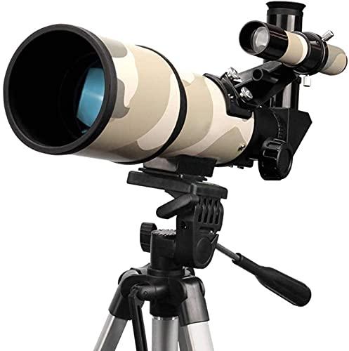 HaoLi Telescopio astronómico 70/350 telescopio, trípode para observar Estrellas Lunares celestes, Adecuado para Principiantes, niños Aficionados para niños