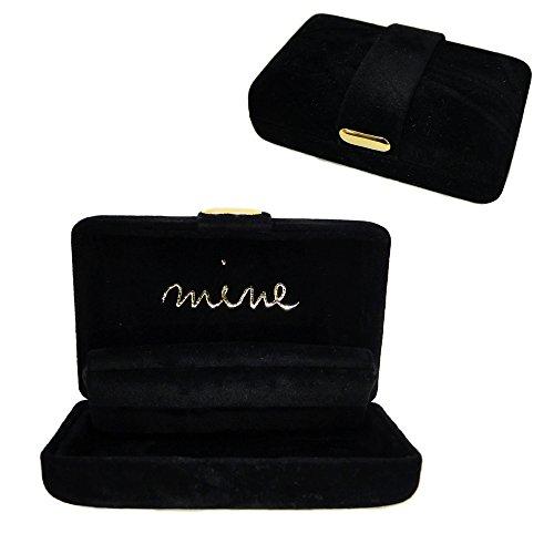 ジュエリーケース携帯用ジュエリーボックスアクセサリーケースネックレスやリングをかわいいコンパクトなmineケースに入れて持ち運び旅行やトラベルにも便利(2ブラック)