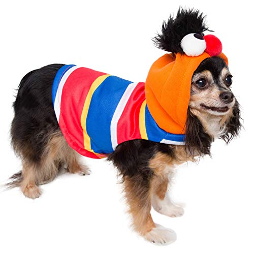 Pet Krewe Ernie Costume – Sesame Street Ernie Dog Costume – Fits Small, Medium, Large and Extra Large Pets – Perfect for Halloween, Parties, Photoshoots, Gifts for Dog Lovers (S)