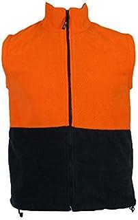 HI VIS Polar Fleece Vest Full Zip Safety Workwear High Visibility S-5XL Fleecy