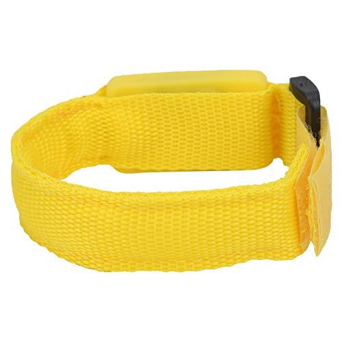 Pulsera de luz LED, brazalete LED Slap Brazalete ajustable Pulsera de ciclismo Pulseras de eventos deportivos para conciertos para acampar(amarillo)
