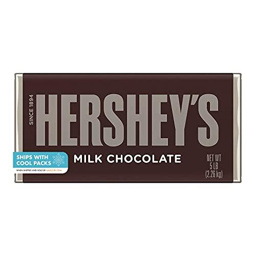 HERSHEY'S Milk Chocolate Candy, Gift, 5 Lb. Bar