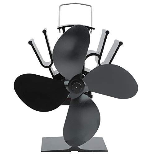 Ventilador de calor 7.8x5.9x4.7in Ventilador de estufa Ventilador de estufa de calor seguro Ventilador de quemador de leña para circulación de calor en el hogar