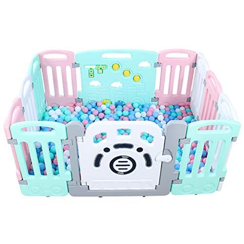 ZHUIL-Baby playpens Parc pour BéBé Parc pour Enfant Terrains De Jeu IntéRieurs Eco-Friendly Combinaisons Multiples éVolutives en Hdpe AdaptéEs Au BéBé De 0 à 6 Ans, 12 Panneaux