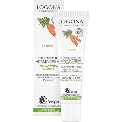 LOGONA Naturkosmetik Teintoptimierende Vitamincreme, Mit einer leichten Tönung, Schenkt der Haut einen ebenmäßigen Teint, Vegan, 30ml