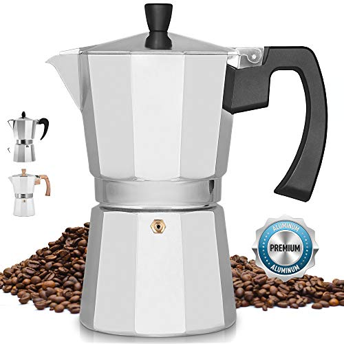 Zulay Classic Stovetop Espresso Maker for Great Flavored Strong Espresso Classic Italian Style 8 Espresso Cup Moka Pot Makes Delicious Coffee Easy to Operate amp Quick Cleanup Pot