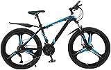 RDJM Bici electrica Adulto Bicicleta de montaña, Suspensión Hombres/de Las Mujeres de Bicicletas de montaña con 26 Bicicletas Pulgadas Ruedas de Carretera, 30Speed Bicicletas de suspensión complet
