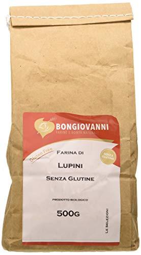 Bongiovanni Farine e Bonta' Naturali, Farina di Lupini BIO, Senza glutine - 500 g