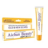 Ai chun Beauty Scar Removal Cream For New & Old Scars Stretch Mark Removal Surgery,Burns Marks Relief. advanced scar gel for Acne Scars,