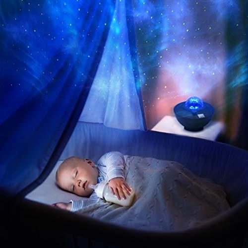 Proiettore Stelle Proiettore Bambini Carillon Neonati Proiettore LED Romantica Lampada Cielo...